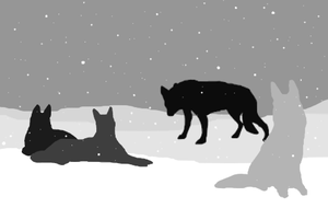 Silhouettes of Dogs by Spirit-Of-Alaska