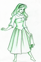 Briar Rose in Green by snow-white-kt