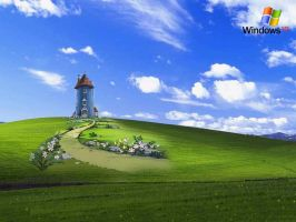 Moomin Windows XP Background by Kiwikku