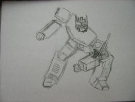 Optimus Prime Sketch by King-Hauken