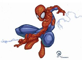 Spiderman Celshaded by wilson-go
