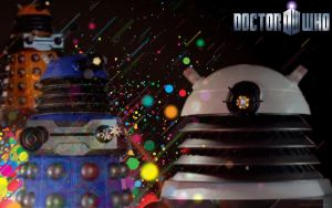 Retro Daleks by icewormie