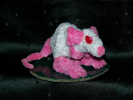 Chanimphs: Pink eyed White rat by HarvestPicori