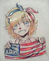 Nyo-America  by M3WCHAN
