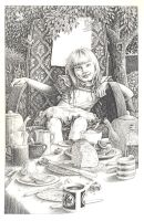 Alice at the tea table by maryanne42