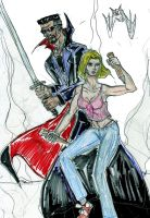 Blade and Buffy by theaven