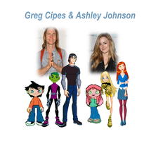 Greg Cipes and Ashley Johnson Cartoon Date by 9029561