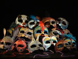Masks from Much Ado: All by Figmentling