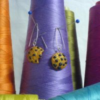 cookie earrings by strictlyhandmade