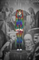SAD RAINBOW GIRL by 9DenkO6