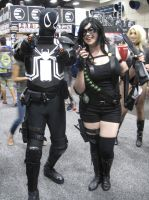 Agent Venom and The Comedian by pa68