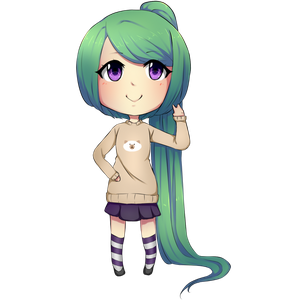 Chibi girl by Devilinatrong