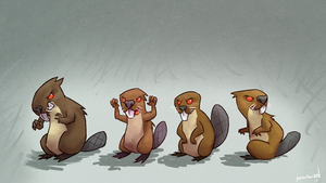angry beavers by ponchuZN