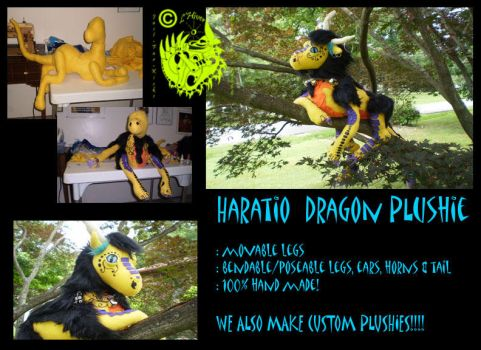 Haratio Dragon plushie by L-Hiver