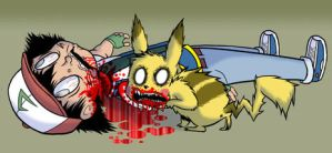 Pikachu NOOO by Aqua-Punk
