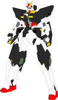 GN-015 Panzer Gundam colored by digitaleva