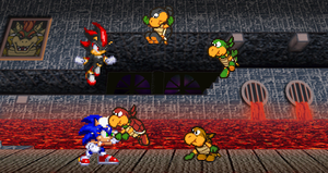 Hedgehogs vs. Koopa Bros by alvarobmk123