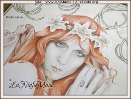 Detail Portrait Florence Welch by laMatitadArgento