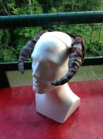 Skyrim Forsworn  headdress (female) Progress Horns by Willwarine