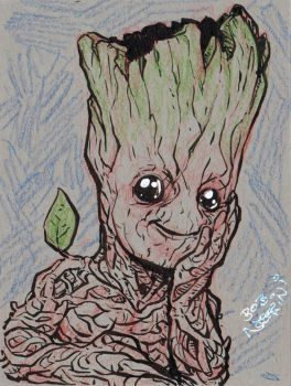 Baby Groot by StubbedToe