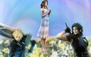 Zack aeris and cloud by AshleyGunville