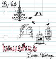 Birds Brushes by isfe by Isfe