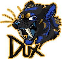 Saber Tooth Tiger Badge- Dux by Tsebresos