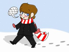 Ringo walking across the snow by psychedelic-weirdo