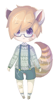 Adoptable 001 - Clumsy Red Panda Boy [OPEN] by MYFAIRPIXEL