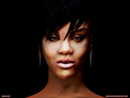 Rihanna 2nd Sulpt- Celebrity 1 by GDSWorld