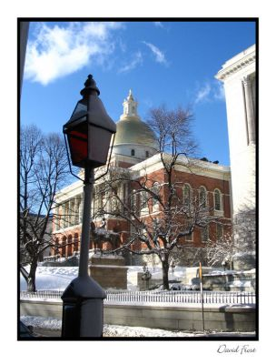The Gold Dome in Winter by slomotionwalter
