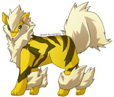 Shiny Arcanine by nenecomi