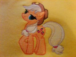 Applejack Standing Embroidery by EthePony