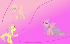 Fluttershy Wallpaper by Squidlie2214