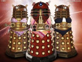 Daleks in bikinis by Kavalden