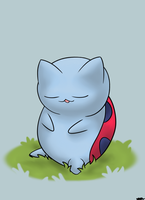 Napping Catbug. by WiggaBuySomeApples