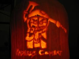 Hank of Madness Combat Pumpkin by RebelATS