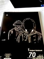 Daft Punk Notebook sketch by LightvsRight