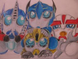 Sparkling Autobots by blondecomicartist