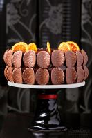 Orange chocolate layer cake by kupenska