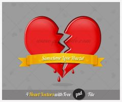 Heart Free PSD for Valentine Day by PsdDude