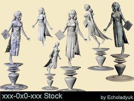 Goddess Statues pack of 6 by xxx-0x0-xxx