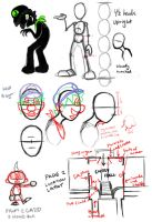 Mr. L's Mansion Model Sheet by angry-green-toast