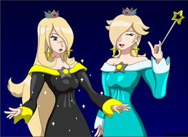 Cynthia and Rosalina - Gotta look alike, right? by LucarioShirona