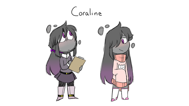 (some new oc i guess??) Coraline by dobiii