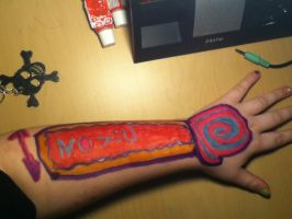 Arm Art: It'll make your eyes bleed. by ZANe-The-Damned