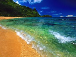 Tunnels Beach, Kauai, Hawaii by gaby97