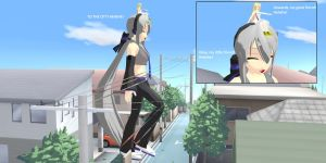 MMD - Floris and the Giant Haku: TO THE CITY! ^^ by kjl03