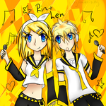 Rin and Len Kagamine again 2nd entry by Amulet-Kitty