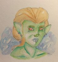 Shakla The Goblin # Watercolor by TemperTempest